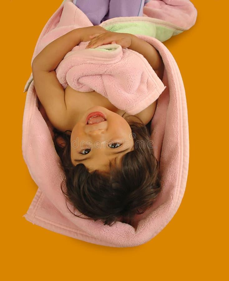 κορίτσι πατωμάτων ευτυχέ&sigma στοκ εικόνες
