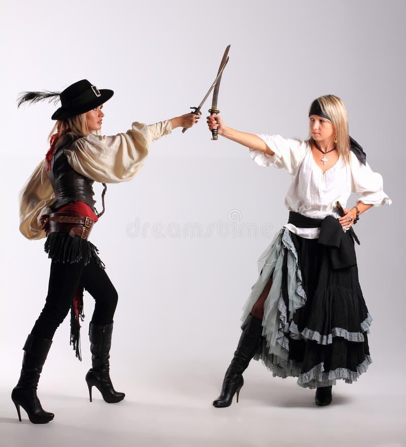 κορίτσι πειρατών στοκ φωτογραφία με δικαίωμα ελεύθερης χρήσης
