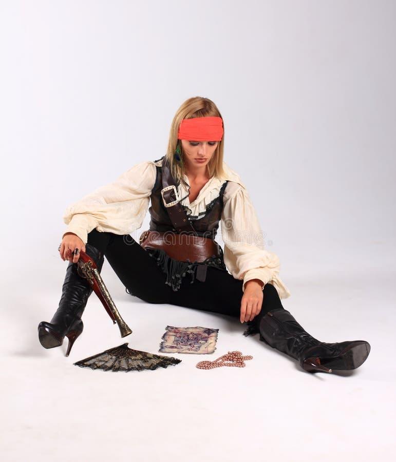 κορίτσι πειρατών στοκ φωτογραφία