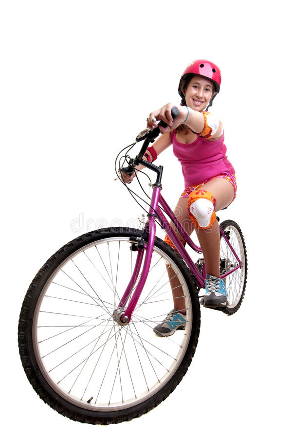 κορίτσι ποδηλάτων στοκ εικόνα με δικαίωμα ελεύθερης χρήσης