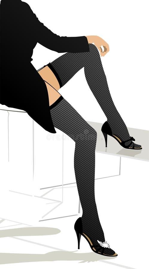 κορίτσι ποδιών διανυσματική απεικόνιση