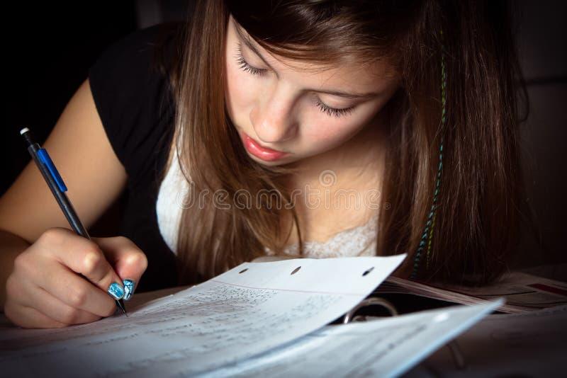 Κορίτσι που κάνει την εργασία στοκ φωτογραφία με δικαίωμα ελεύθερης χρήσης