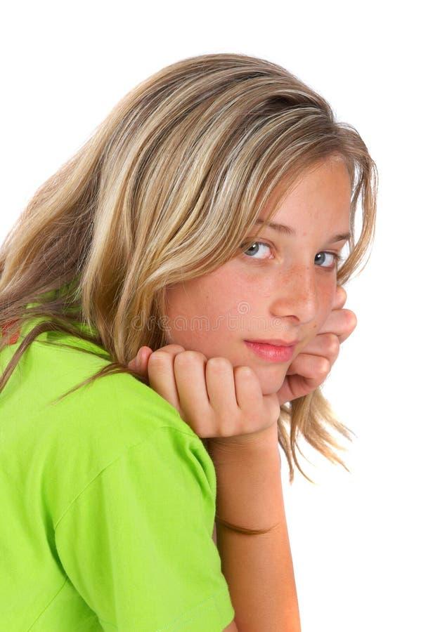 κορίτσι που κοιτάζει πέρ&alpha στοκ φωτογραφία