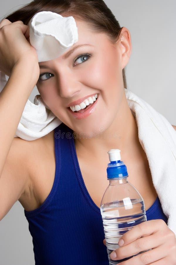 κορίτσι που κουράζεται workout στοκ εικόνες