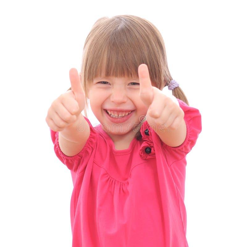 Κορίτσι που παρουσιάζει ΕΝΤΆΞΕΙ στοκ φωτογραφίες με δικαίωμα ελεύθερης χρήσης