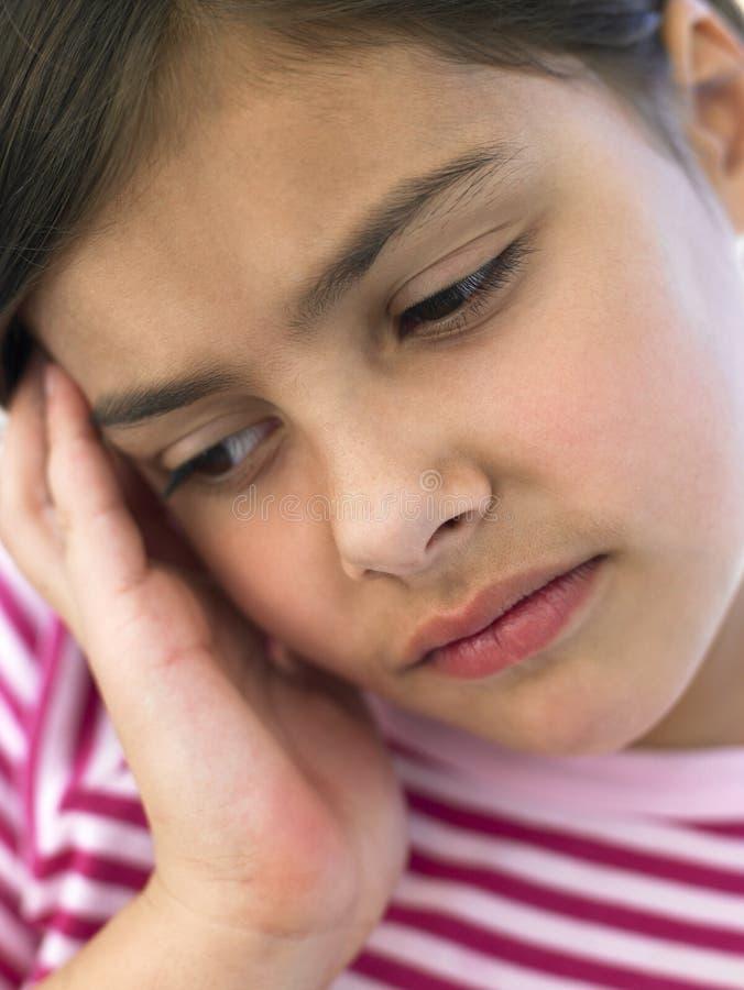 κορίτσι που φαίνεται πορτρέτο που ανησυχείται στοκ εικόνες με δικαίωμα ελεύθερης χρήσης