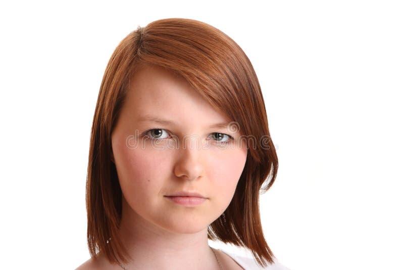 κορίτσι που φαίνεται φυσ στοκ εικόνα