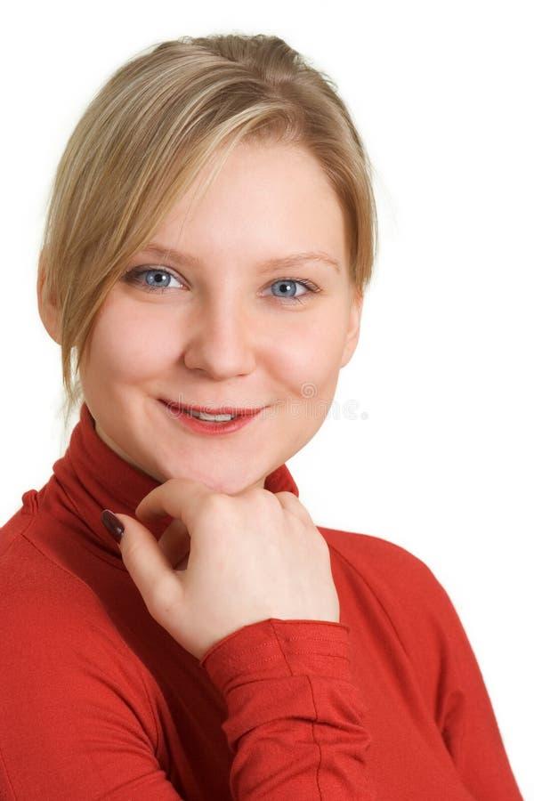 κορίτσι που φαίνεται χαμογελώντας σας στοκ εικόνες