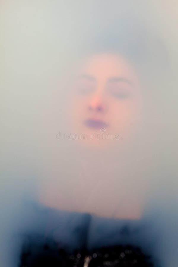 Κορίτσι προσώπου κάτω από το νερό στοκ εικόνες με δικαίωμα ελεύθερης χρήσης