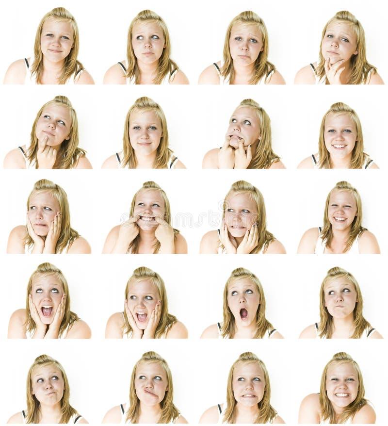 κορίτσι προσώπων πολλά εφ&e στοκ φωτογραφίες με δικαίωμα ελεύθερης χρήσης