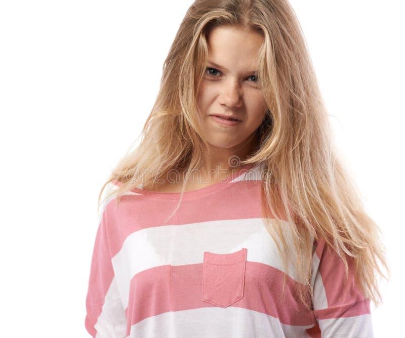 Κορίτσι σε μια ρόδινηη μπλούζα  στοκ εικόνες