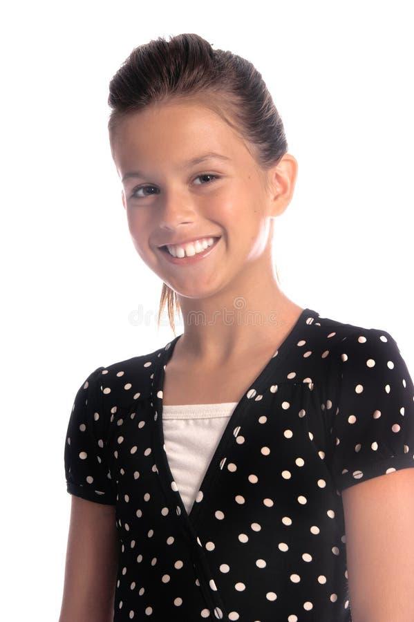 κορίτσι σημείων polak στοκ φωτογραφία με δικαίωμα ελεύθερης χρήσης