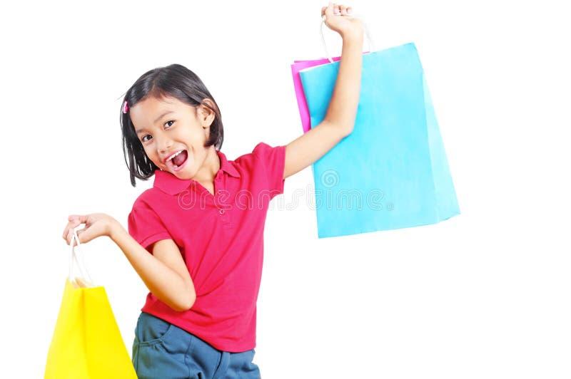 Κορίτσι στις αγορές στοκ εικόνα με δικαίωμα ελεύθερης χρήσης
