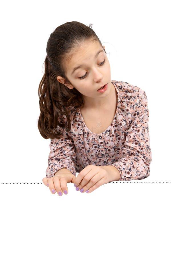 Κορίτσι στο άσπρο υπόβαθρο στοκ φωτογραφία με δικαίωμα ελεύθερης χρήσης