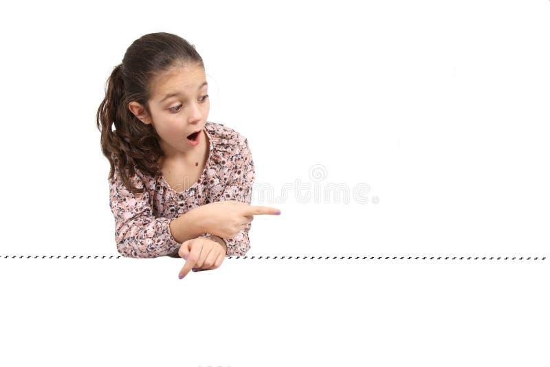 Κορίτσι στο άσπρο υπόβαθρο στοκ εικόνα με δικαίωμα ελεύθερης χρήσης