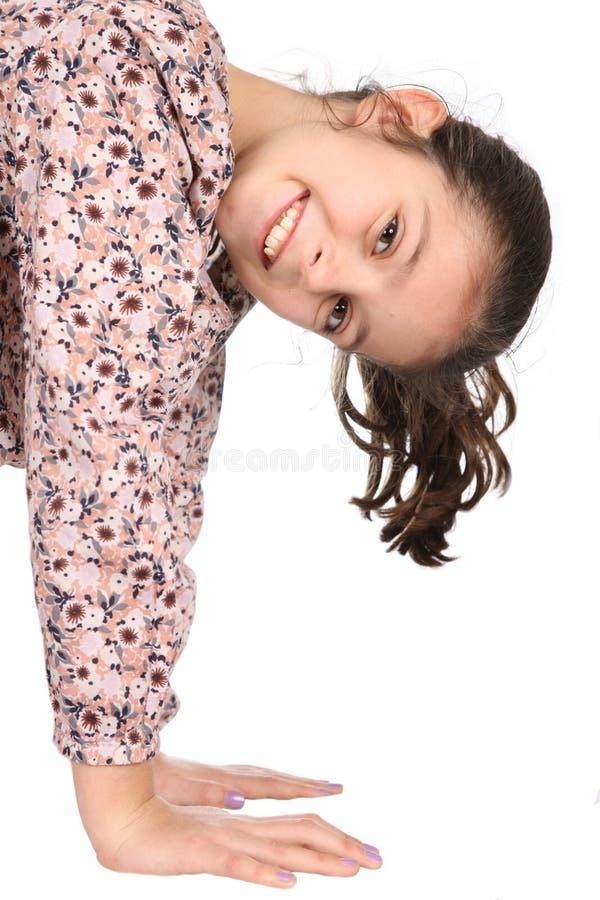 Κορίτσι στο άσπρο υπόβαθρο στοκ εικόνες με δικαίωμα ελεύθερης χρήσης