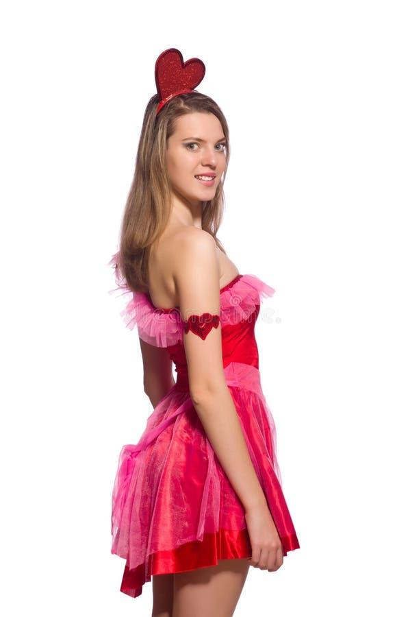 Download Κορίτσι στο αρκετά φόρεμα που απομονώνεται ρόδινο στο λευκό Στοκ Εικόνες - εικόνα από εσθήτα, ροδανιλίνη: 62703848