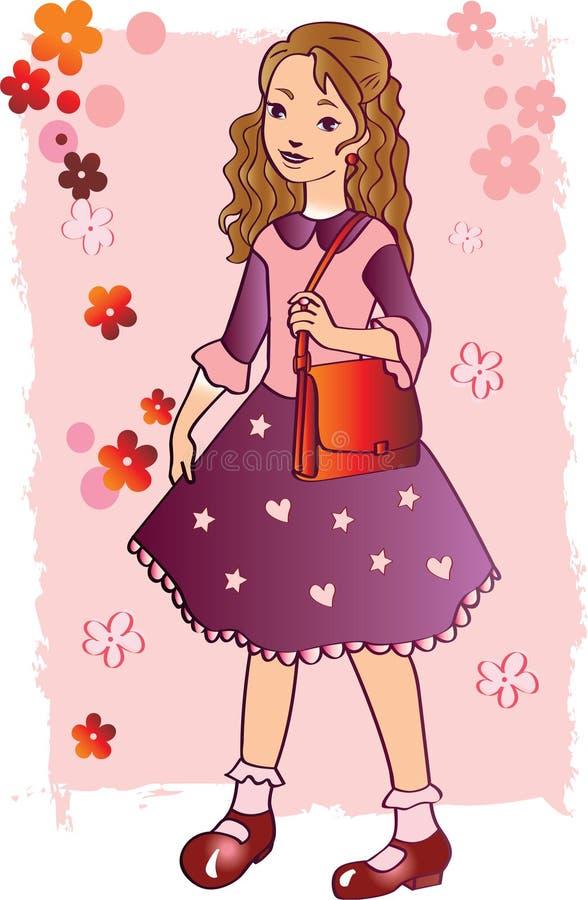 Κορίτσι στο ροζ στοκ εικόνες