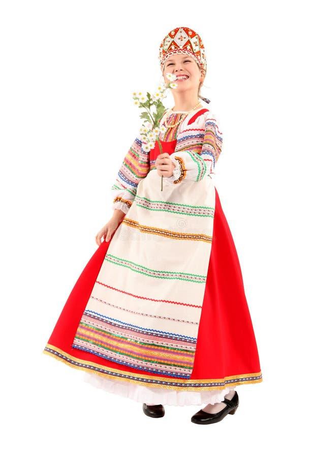 Κορίτσι στο ρωσικό εθνικό κοστούμι στοκ φωτογραφία με δικαίωμα ελεύθερης χρήσης