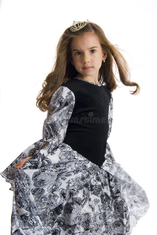 Κορίτσι στο φόρεμα πριγκηπισσών στοκ εικόνα