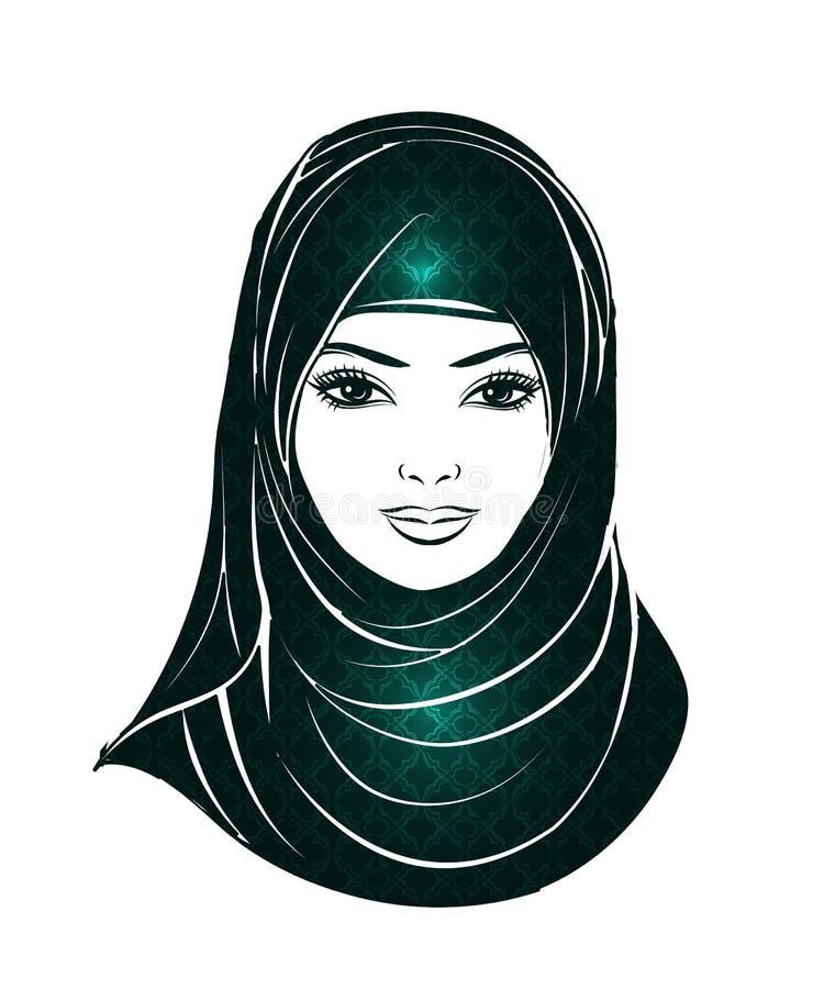 Κορίτσι στο hijab ελεύθερη απεικόνιση δικαιώματος