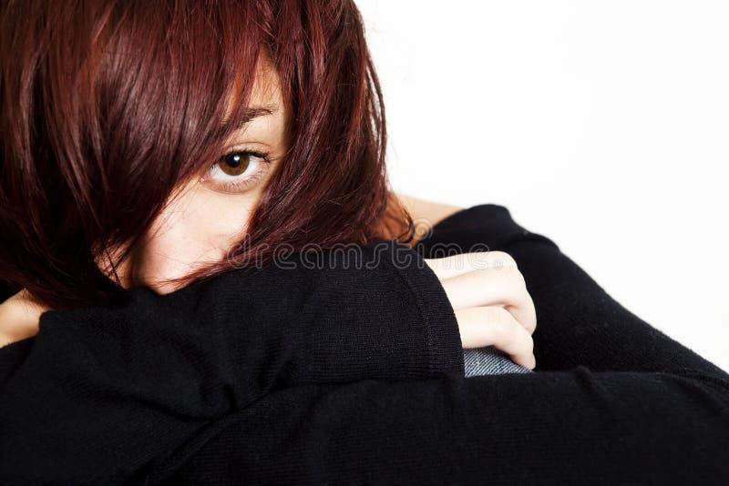 κορίτσι συνεσταλμένο στοκ εικόνα με δικαίωμα ελεύθερης χρήσης