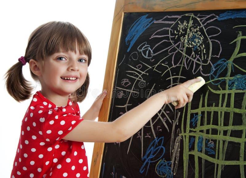 κορίτσι σχεδίων ευτυχές λίγη εικόνα στοκ εικόνες με δικαίωμα ελεύθερης χρήσης