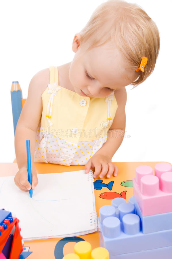 κορίτσι σχεδίων μωρών στοκ εικόνες