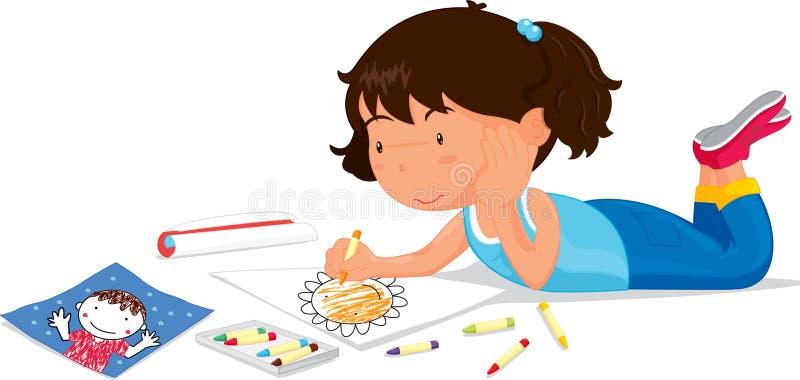 κορίτσι σχεδίων ελεύθερη απεικόνιση δικαιώματος