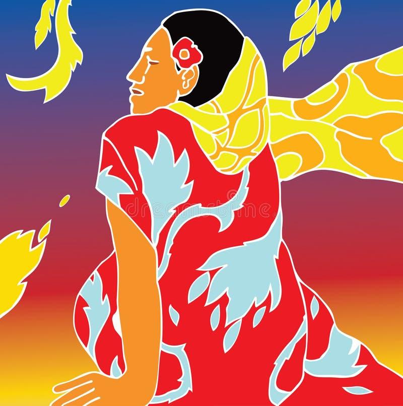 κορίτσι Ταϊτή ελεύθερη απεικόνιση δικαιώματος