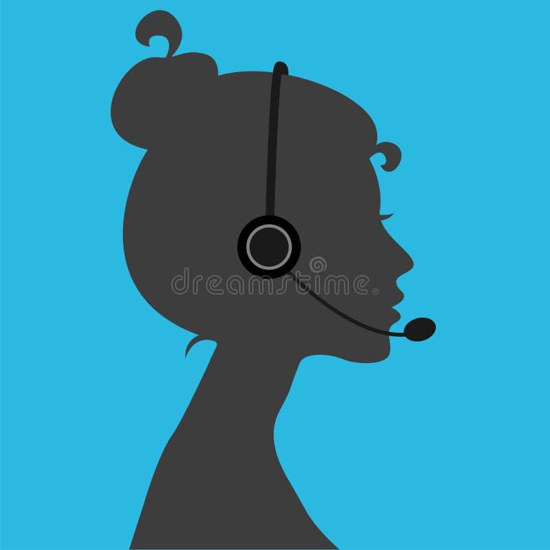 Κορίτσι τηλεφωνητών ελεύθερη απεικόνιση δικαιώματος