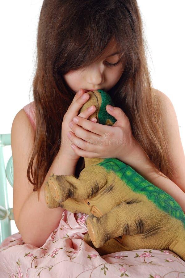 κορίτσι του Dino στοκ εικόνες με δικαίωμα ελεύθερης χρήσης