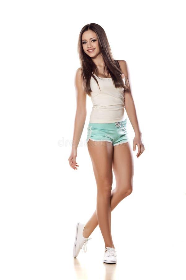 κορίτσι φίλαθλο στοκ εικόνα με δικαίωμα ελεύθερης χρήσης