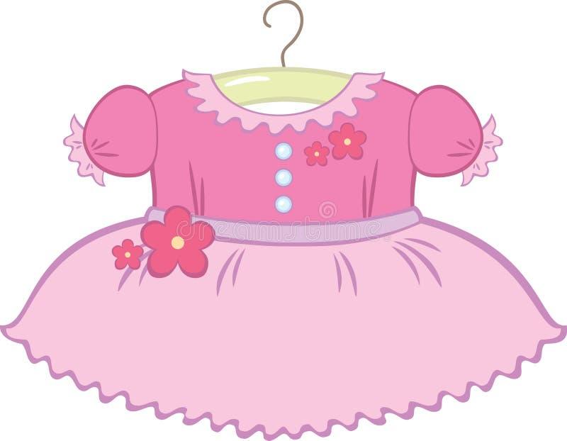 κορίτσι φορεμάτων μωρών ελεύθερη απεικόνιση δικαιώματος