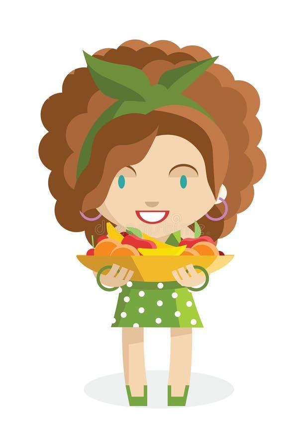 Κορίτσι φρούτων απεικόνιση αποθεμάτων
