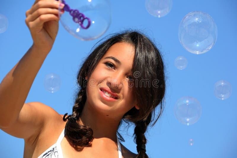 κορίτσι φυσαλίδων στοκ φωτογραφίες με δικαίωμα ελεύθερης χρήσης