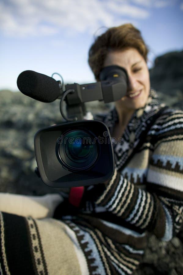 κορίτσι φωτογραφικών μηχ&alpha στοκ εικόνες
