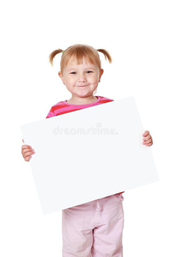 κορίτσι χαρτονιών λίγα άσπρ& στοκ φωτογραφία