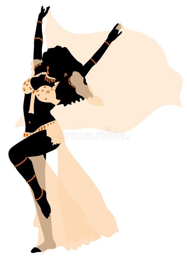 κορίτσι χορού κοιλιών στοκ εικόνα με δικαίωμα ελεύθερης χρήσης