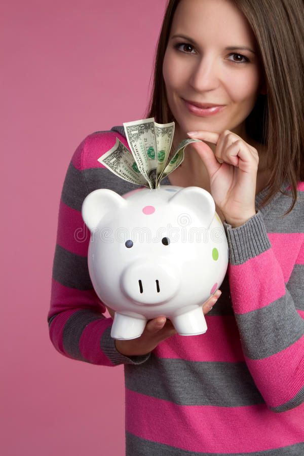 Κορίτσι χρημάτων στοκ φωτογραφίες