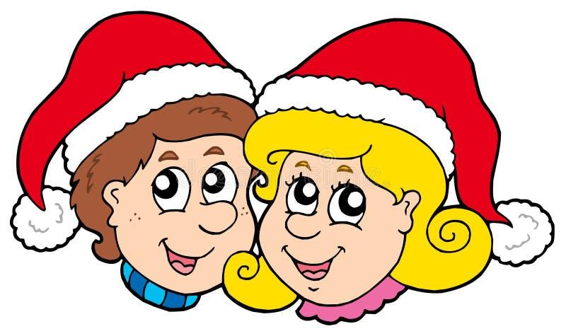 κορίτσι Χριστουγέννων αγ& απεικόνιση αποθεμάτων