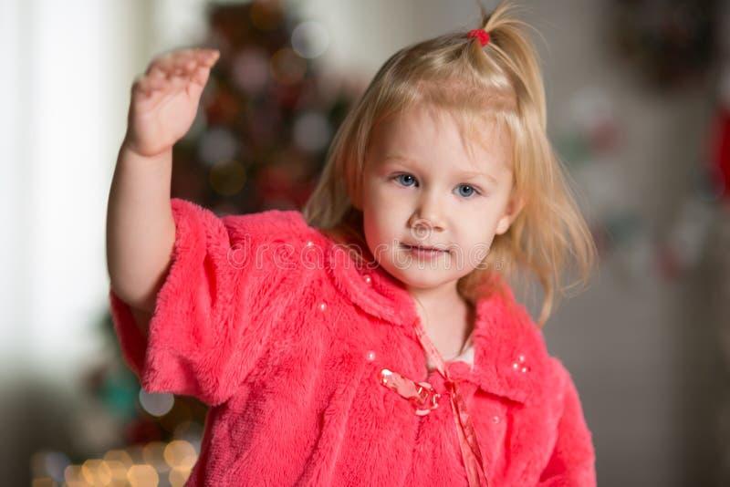 κορίτσι Χριστουγέννων λίγ στοκ φωτογραφία με δικαίωμα ελεύθερης χρήσης