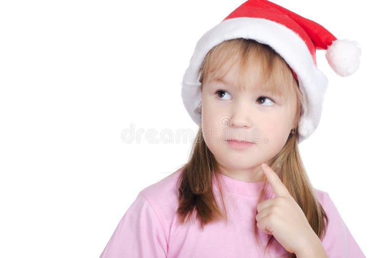 κορίτσι Χριστουγέννων λί&gamma στοκ εικόνα με δικαίωμα ελεύθερης χρήσης