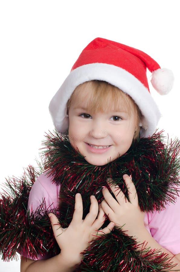 κορίτσι Χριστουγέννων λί&gamma στοκ φωτογραφία