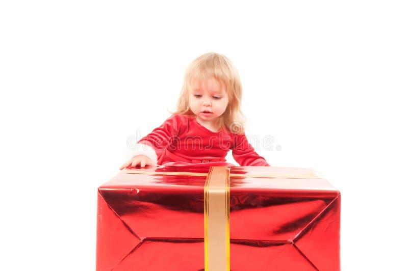 κορίτσι Χριστουγέννων μω&rho στοκ εικόνα