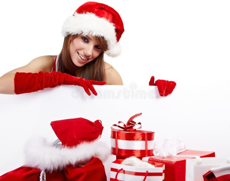κορίτσι Χριστουγέννων πρ&omicr στοκ εικόνα με δικαίωμα ελεύθερης χρήσης