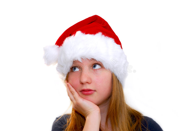 Download κορίτσι Χριστουγέννων στοκ εικόνα. εικόνα από facial, διακοπές - 1546237