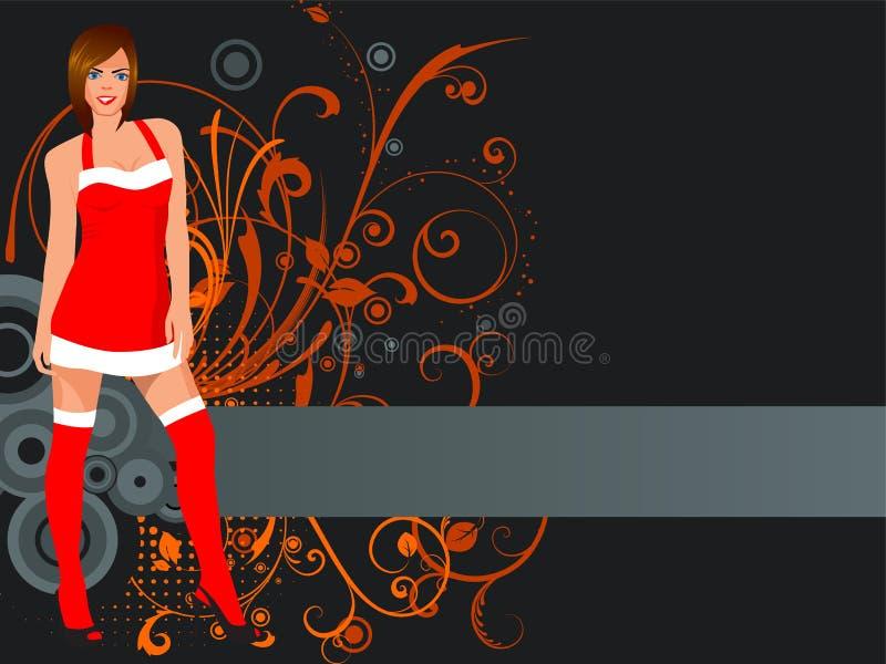 κορίτσι Χριστουγέννων απεικόνιση αποθεμάτων