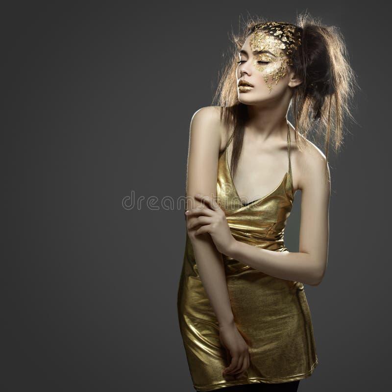 κορίτσι χρυσό στοκ εικόνες