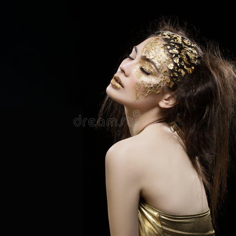 κορίτσι χρυσό στοκ φωτογραφία